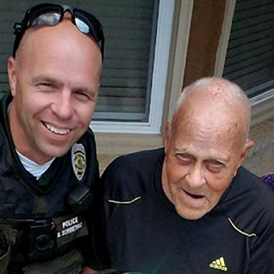 Wichita police officer Robert Bachman and WWII veteran Charles Johnson