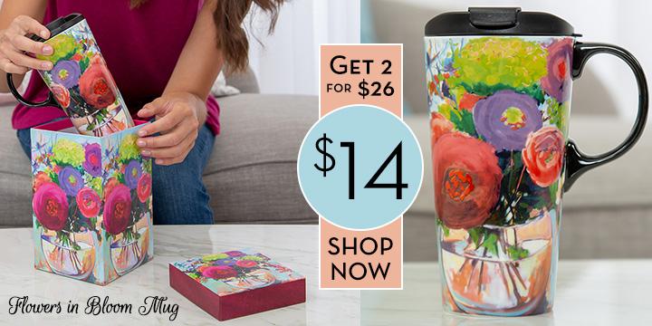Flowers in Bloom Gift Boxed Travel Mug