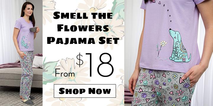 Smell the Flowers Pajama Set