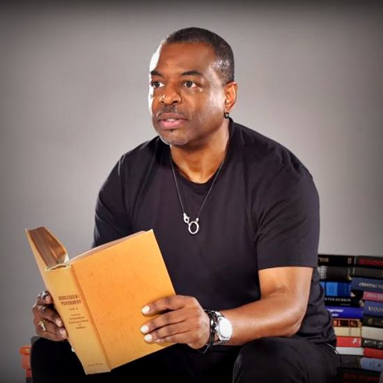 LeVar Burton reading from books