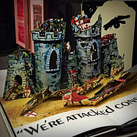 Popup book of real art