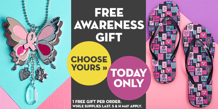 Choose Your FREE Pink Ribbon Item for Breast Cancer Awareness Month