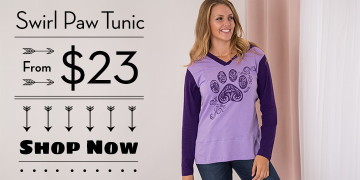 Two-Toned Swirl Paw Tunic