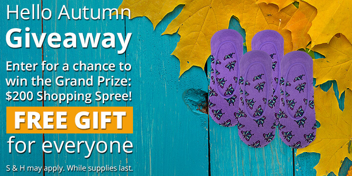 Enter for a FREE gift and a chance to win a 200 dollar shopping spree!