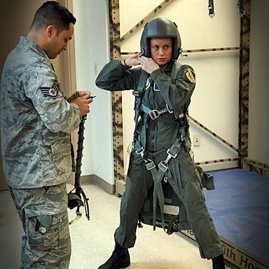 Actress gears up with Air Force personnel