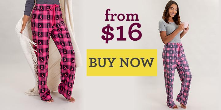 Pink Ribbon Flannel Lounge Pants