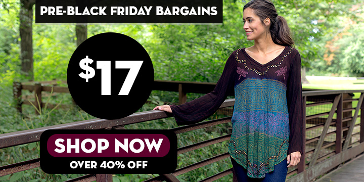 Dragonfly Meadow Long Sleeve Tunic