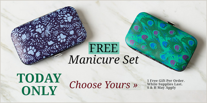 Choose your FREE Manicure Set!