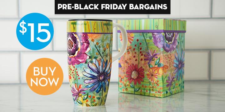 Impressionist Garden Gift Boxed Travel Mug