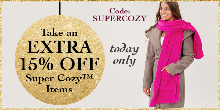 30-40% Off Super Cozy Items!