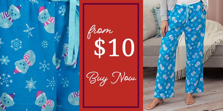 Snowman Pets Flannel Pajama Pants