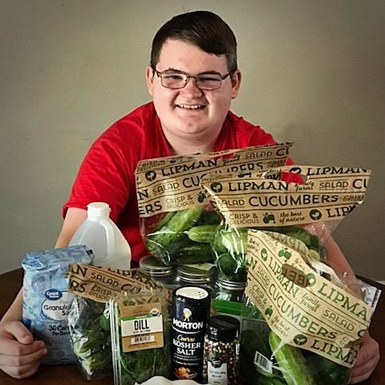teen with pickle ingredients