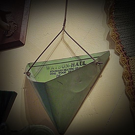 A vintage green triangular thing - what is it