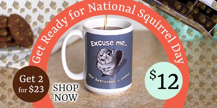Excuse Me Squirrel Mug