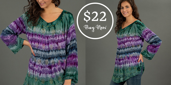 Mystic Island Long Sleeve Tunic