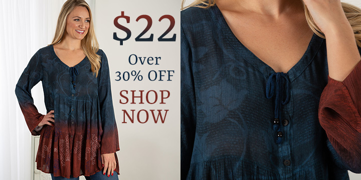 On the Horizon Button Down Tunic