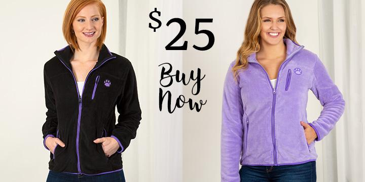 Super Cozy Purple Paw Everest Jacket