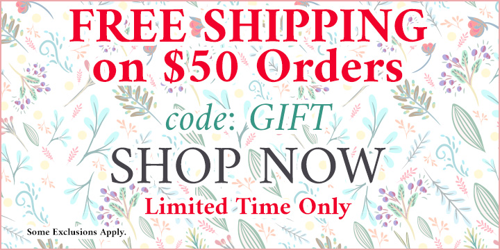 Free U.S. Standard Shipping on $50 Orders! Use Code: GIFT