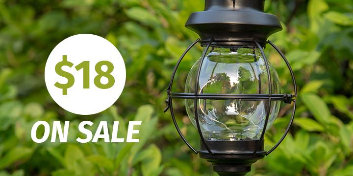 Contemporary Globe Solar Lantern