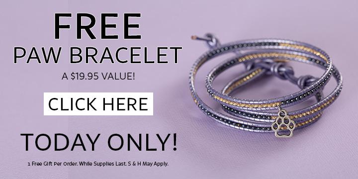 FREE Paw Print Beaded Wrap Bracelet!
