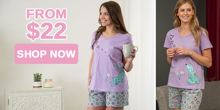 Smell the Flowers Pajama Shorts Set