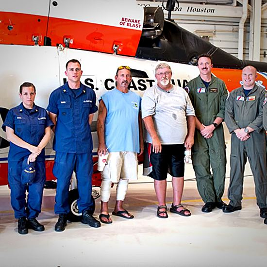 Coast Guard and rescued men
