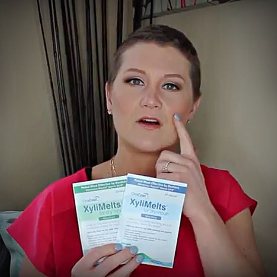 Woman holding Xylimelts