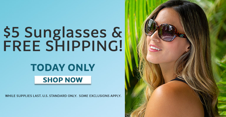 $5 Sunglasses & Free Shipping!