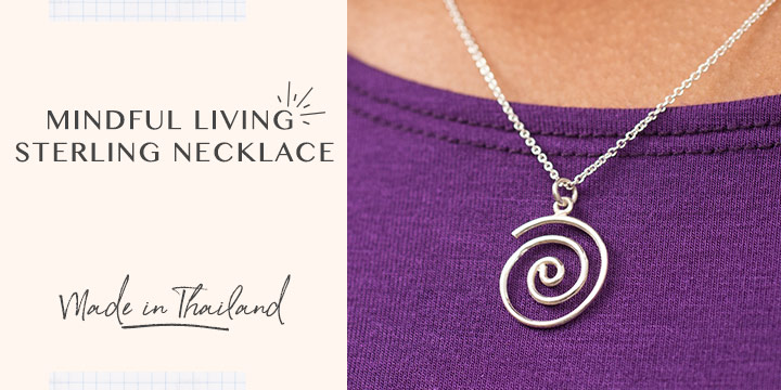 Mindful Living Sterling Necklace