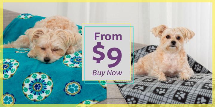 Snuggle Paws Fleece Pet Blanket