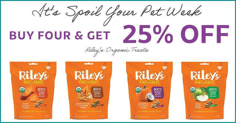 Rileys Organics - Buy 4 Get 25Per Of