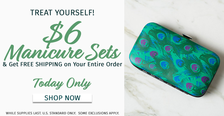 $6 Manicure Sets & FREE Shipping!