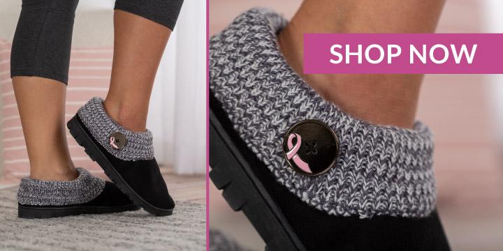 Pink Ribbon Comfy Clog Slipper