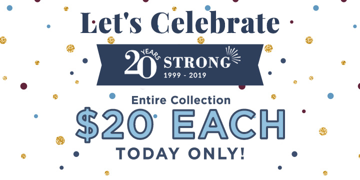 Celebrate 20 years with $20 Deals!