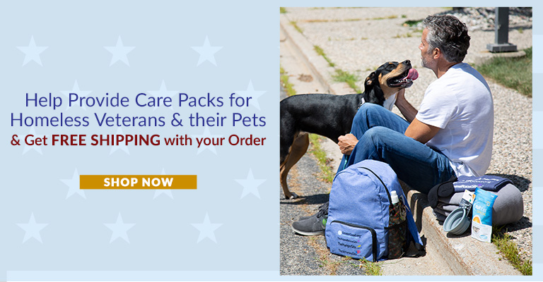Purchase Care Packs For Homeless Veterans & Your order ships for FREE!