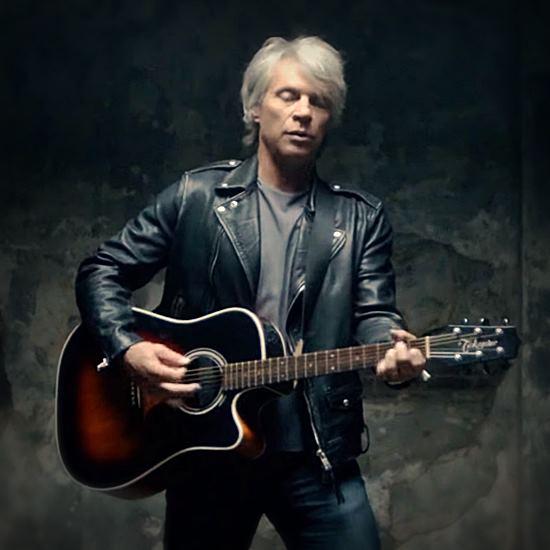 Bon Jovi playing guitar