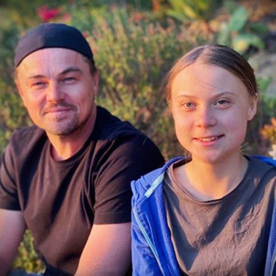 DiCaprio and Thunberg in nature