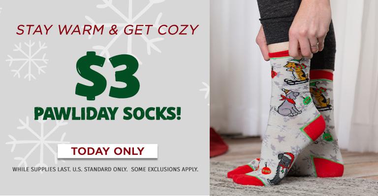 $3 Holiday Socks!