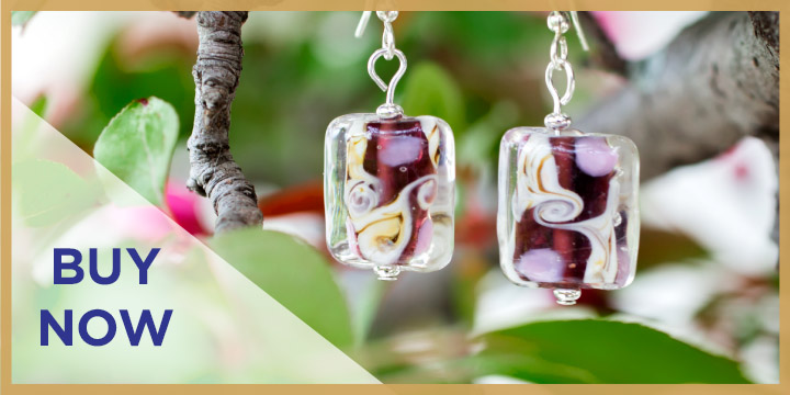 Colors of Inspiration Glass Earrings