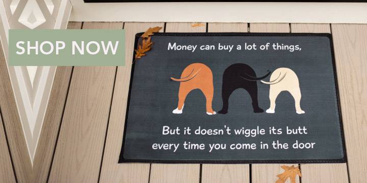 Dog Wiggle Door Mat