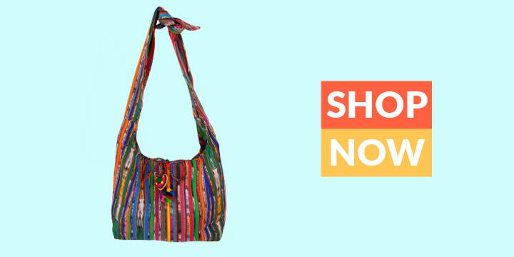 Guatemalan Recycled Rainbow Bag