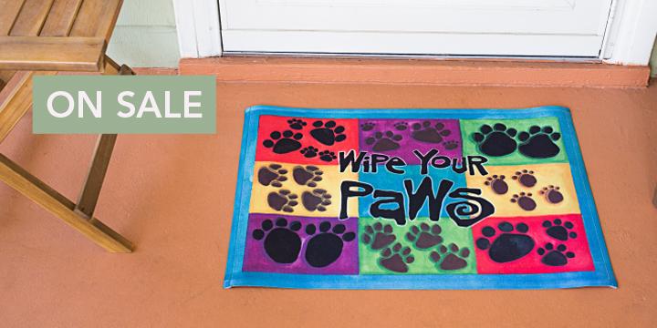 Wipe Your Paws Multicolor Door Mat