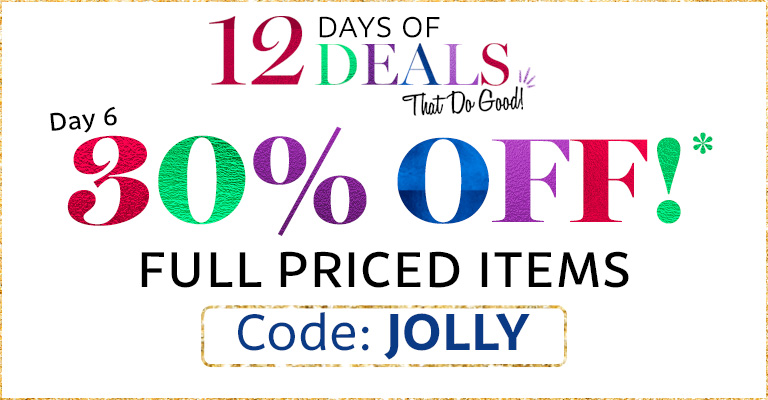 Use Code: JOLLY & 30% Off full priced items!