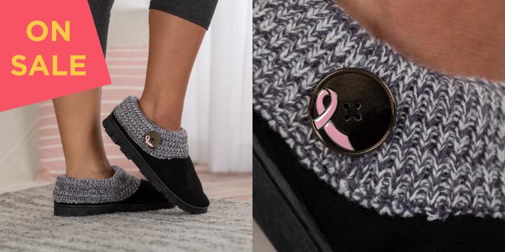 Pink Ribbon Comfy Clog Slippers