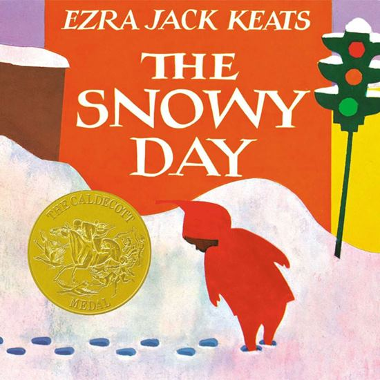 Book cover for The Snowy Day