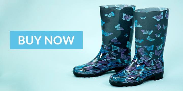 Ultralite™ Fluttering Butterflies Rain Boots