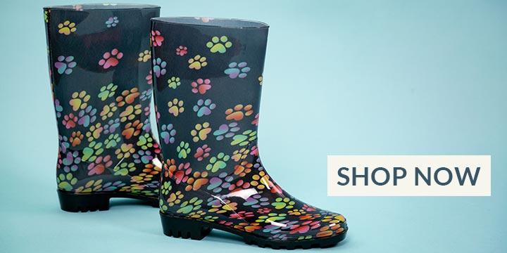Ultralite™ Tumbling Paws Rain Boots
