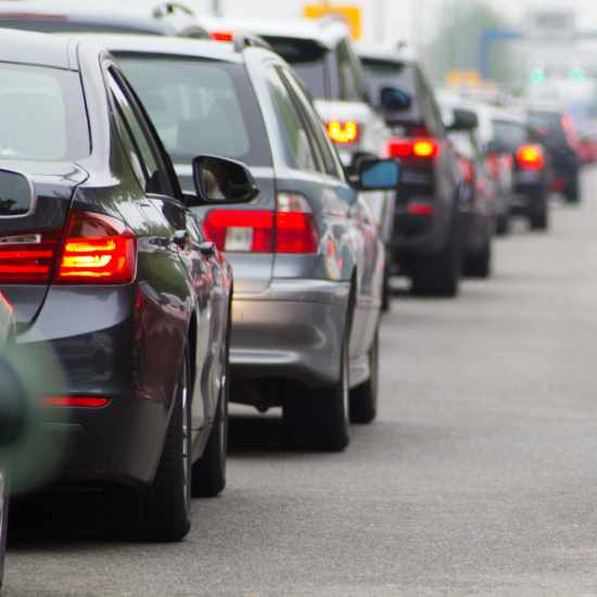 Vehicles in traffic jam