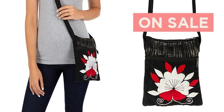 Heart of Flowers Crossbody Bag