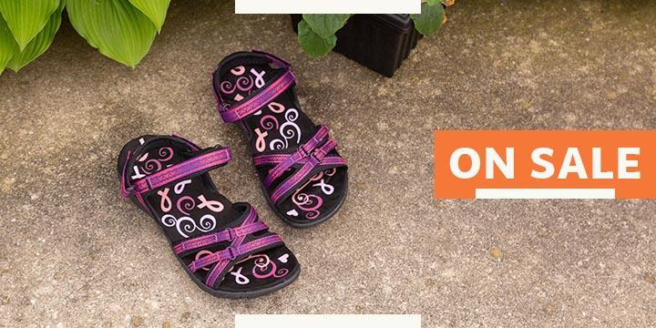 Ultralite™ Pink Ribbon Strappy Sport Sandals
